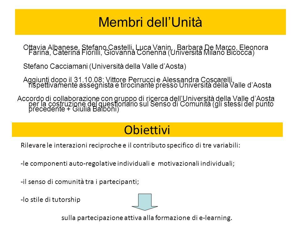 sulla partecipazione attiva alla formazione di e-learning.