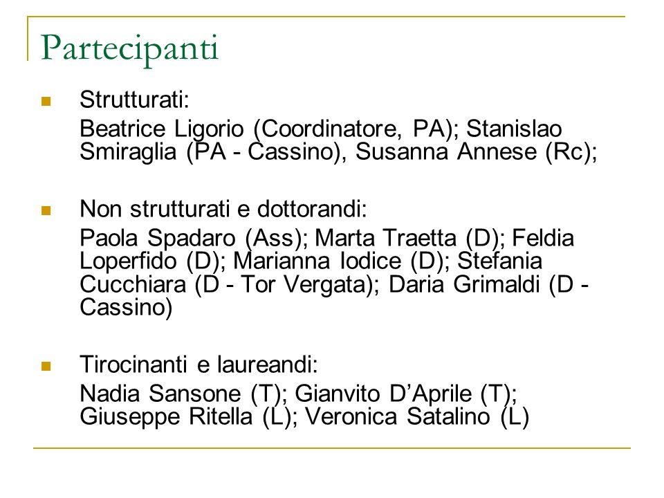 Partecipanti Strutturati: