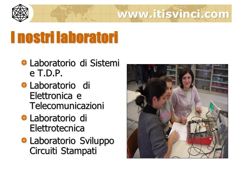 I nostri laboratori Laboratorio di Sistemi e T.D.P.