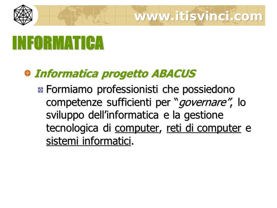 INFORMATICA Informatica progetto ABACUS