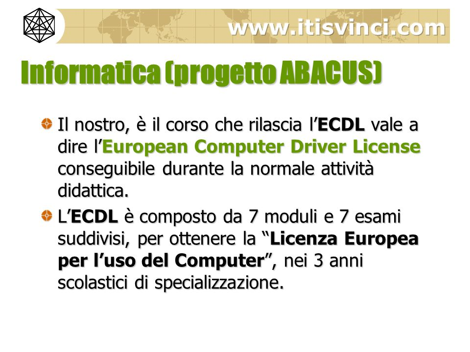 Informatica (progetto ABACUS)