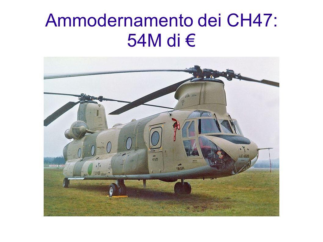Ammodernamento dei CH47: 54M di €