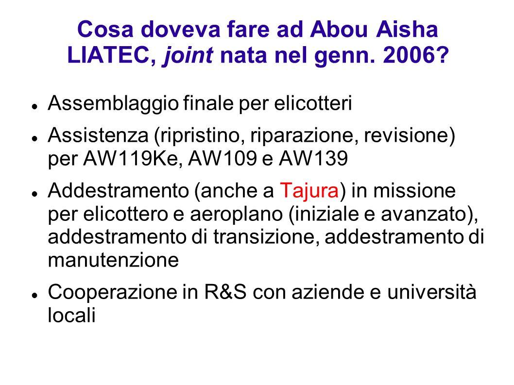 Cosa doveva fare ad Abou Aisha LIATEC, joint nata nel genn. 2006