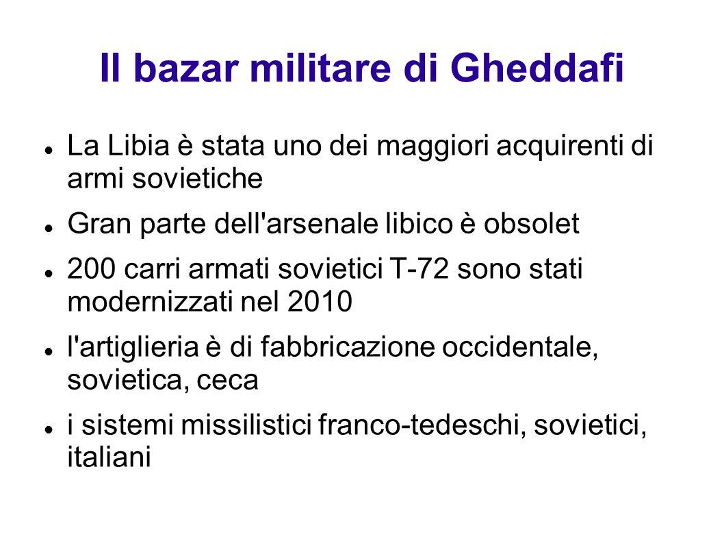 Il bazar militare di Gheddafi