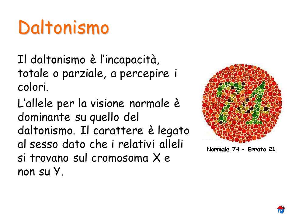 DaltonismoIl daltonismo è l'incapacità, totale o parziale, a percepire i colori.