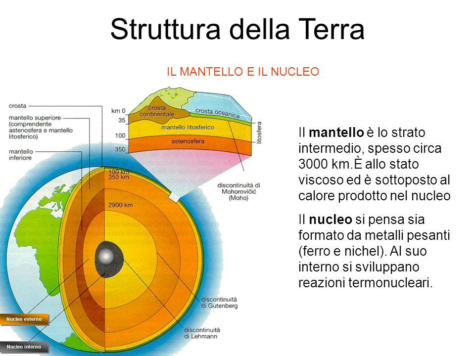 Struttura della Terra IL MANTELLO E IL NUCLEO.