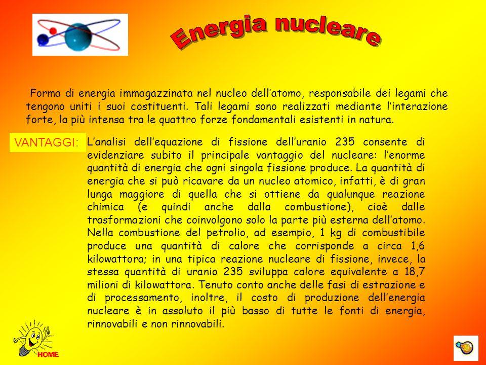 Energia nucleare Centrale nucleare, Valle della Loira VANTAGGI: