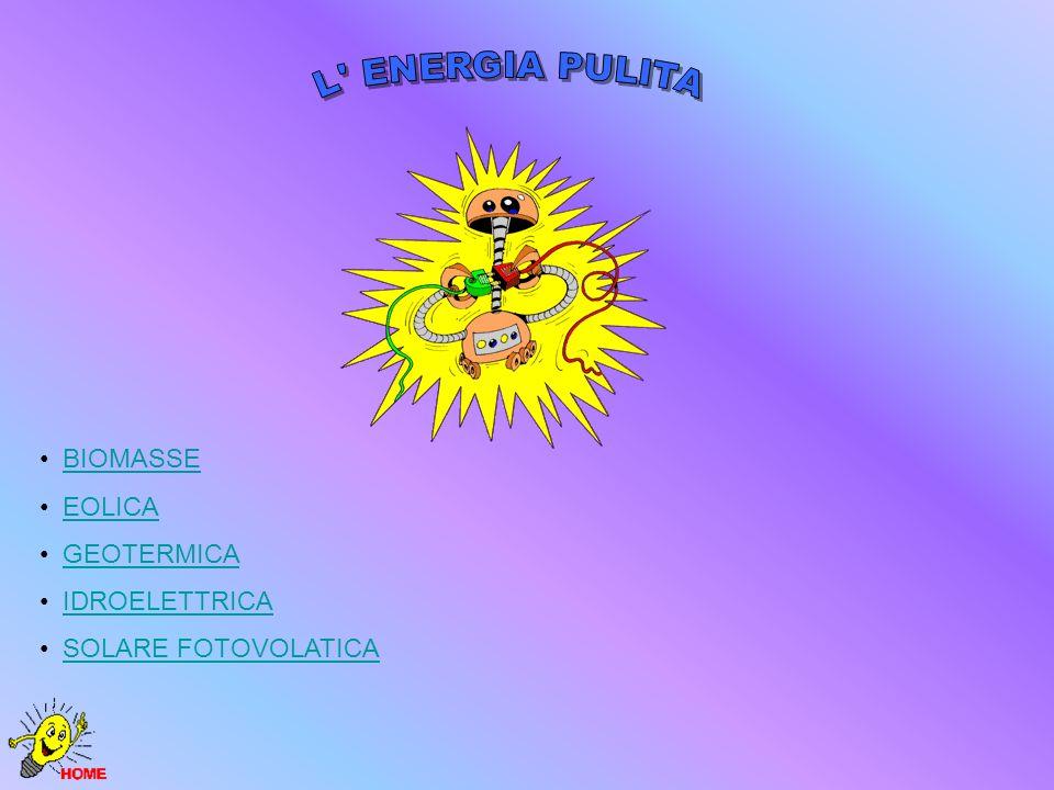 L ENERGIA PULITA BIOMASSE EOLICA GEOTERMICA IDROELETTRICA