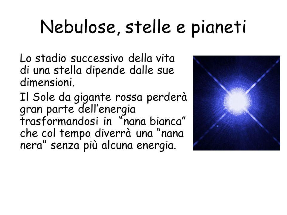 Nebulose, stelle e pianeti