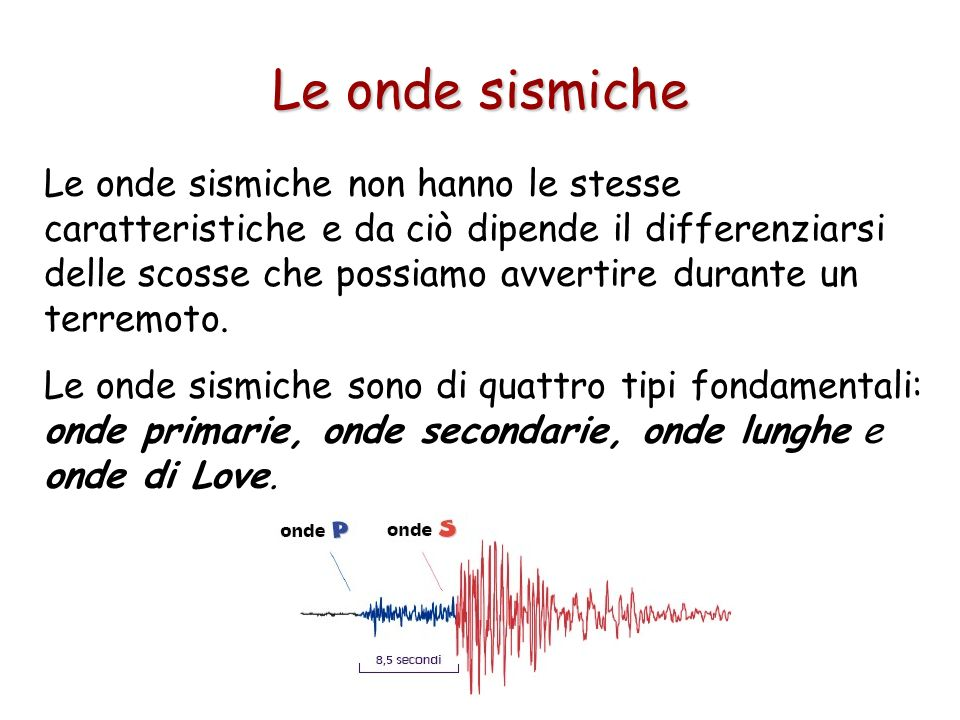 Le onde sismiche
