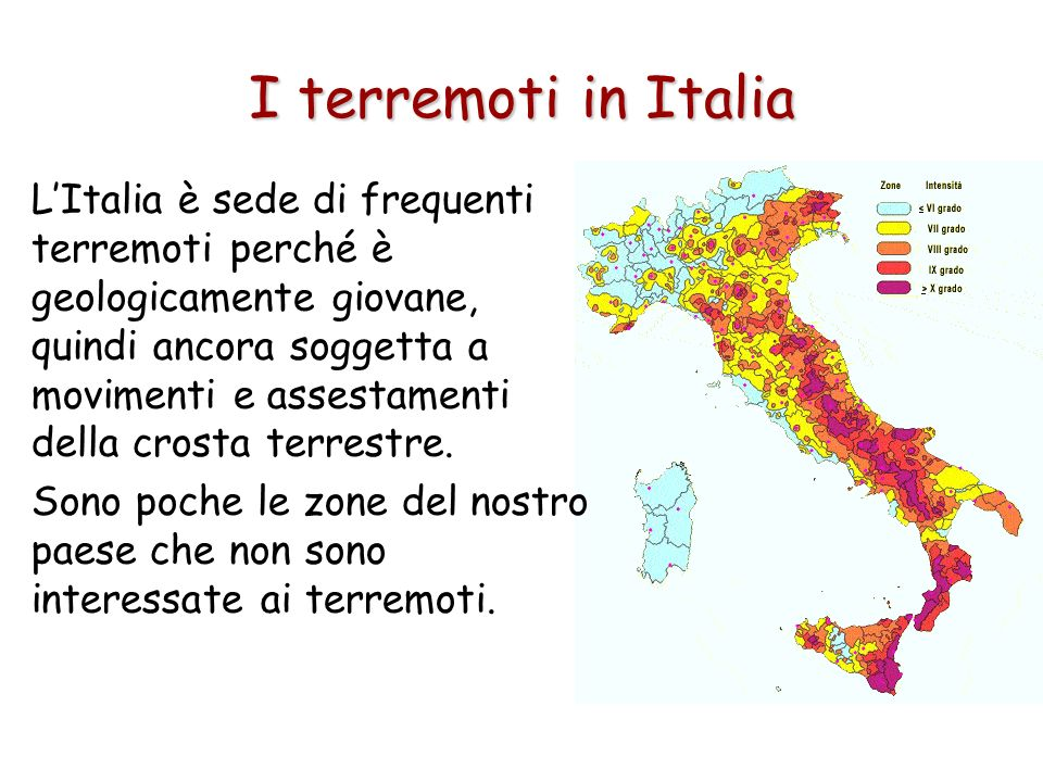 I terremoti in Italia