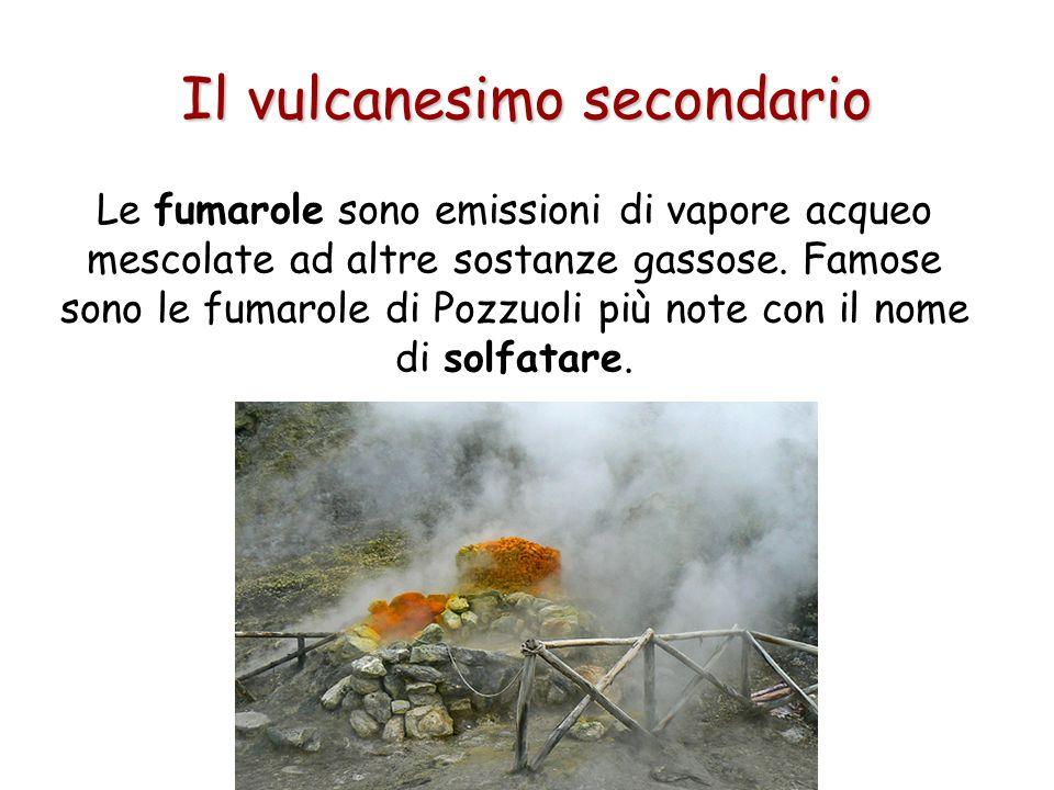 Il vulcanesimo secondario