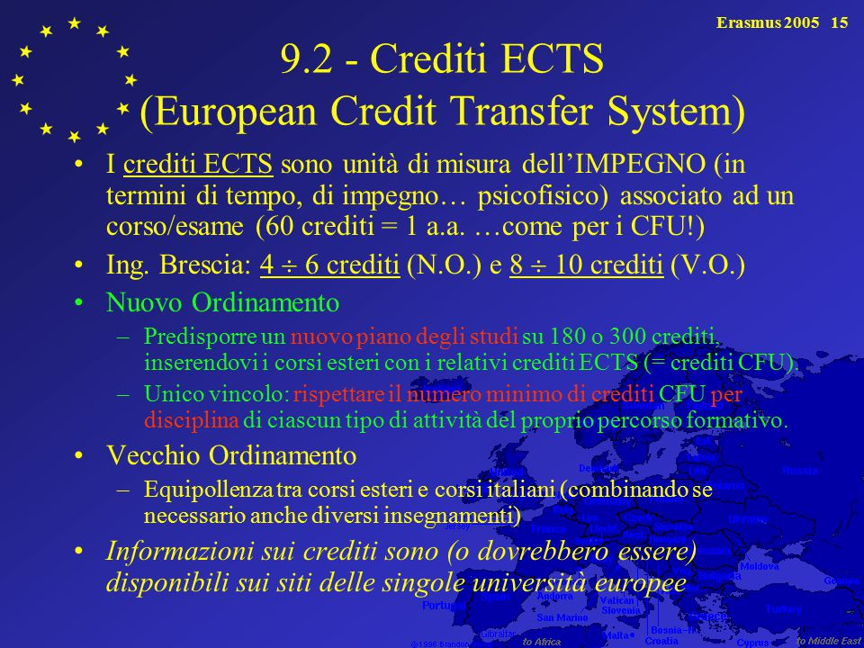 9.2 - Crediti ECTS (European Credit Transfer System)