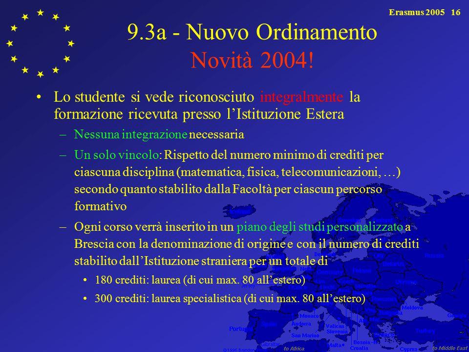 9.3a - Nuovo Ordinamento Novità 2004!