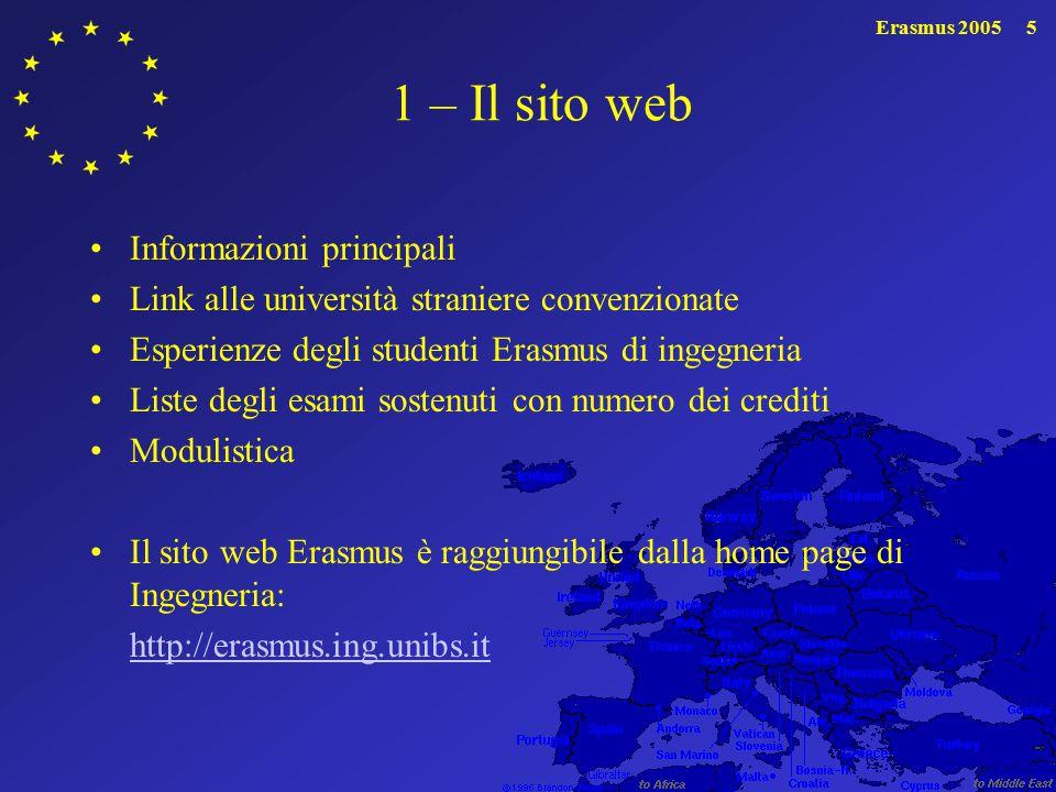 1 – Il sito web Informazioni principali
