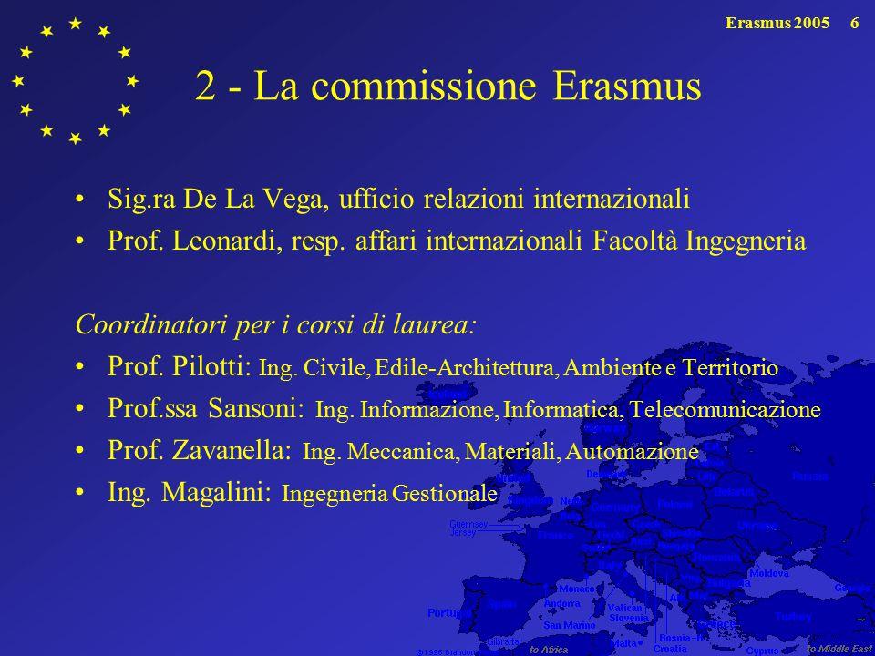 2 - La commissione Erasmus