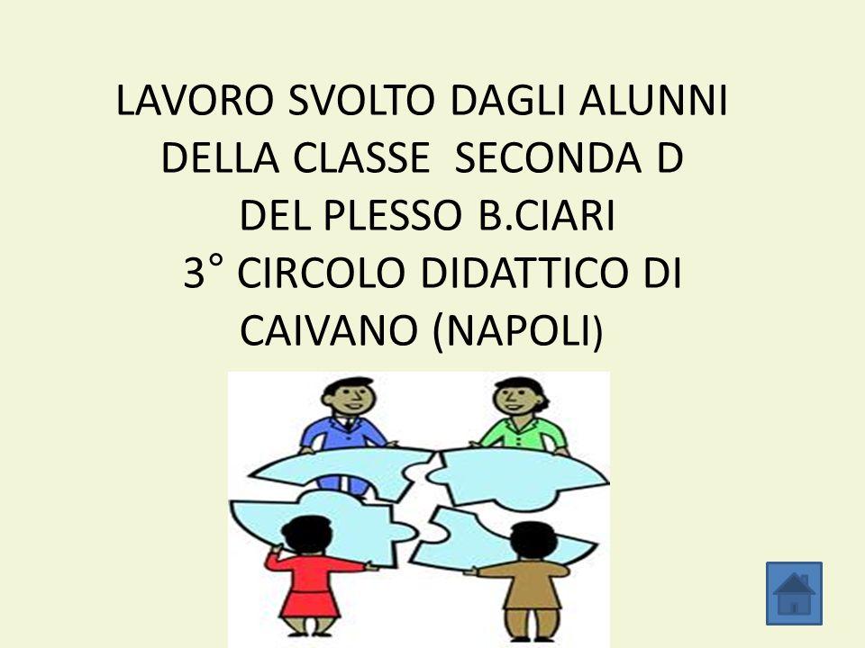 LAVORO SVOLTO DAGLI ALUNNI DELLA CLASSE SECONDA D DEL PLESSO B.CIARI