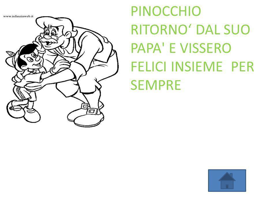 PINOCCHIO RITORNO' DAL SUO PAPA E VISSERO FELICI INSIEME PER SEMPRE