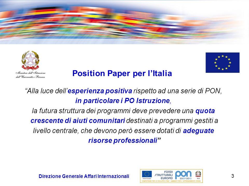Position Paper per l'Italia risorse professionali