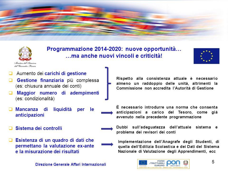 Programmazione 2014-2020: nuove opportunità…