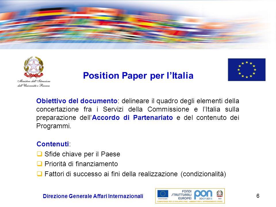 Position Paper per l'Italia