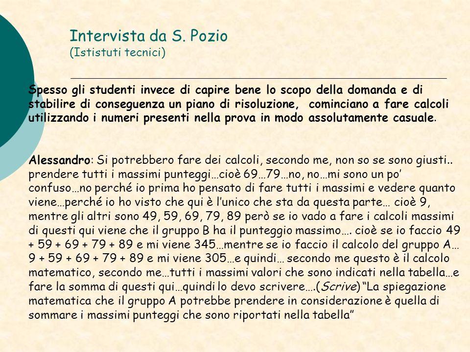Intervista da S. Pozio (Ististuti tecnici)