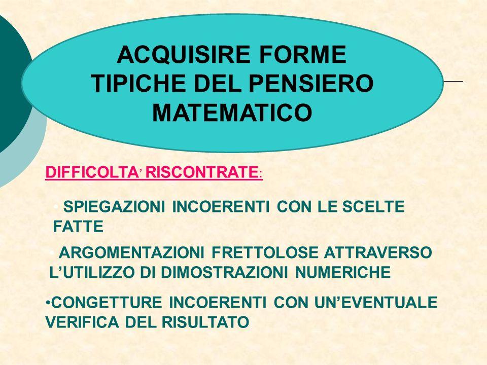 TIPICHE DEL PENSIERO MATEMATICO