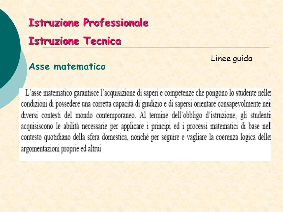 Istruzione Professionale Istruzione Tecnica