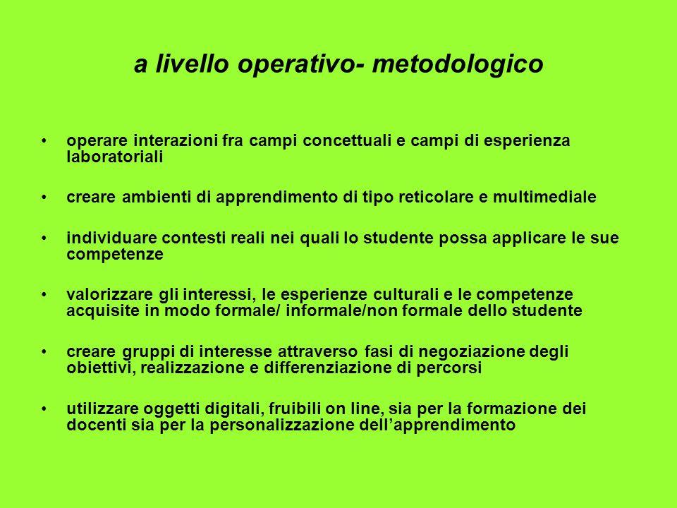 a livello operativo- metodologico
