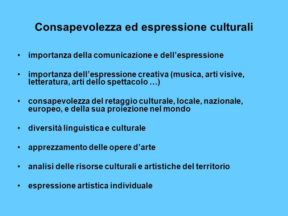 Consapevolezza ed espressione culturali