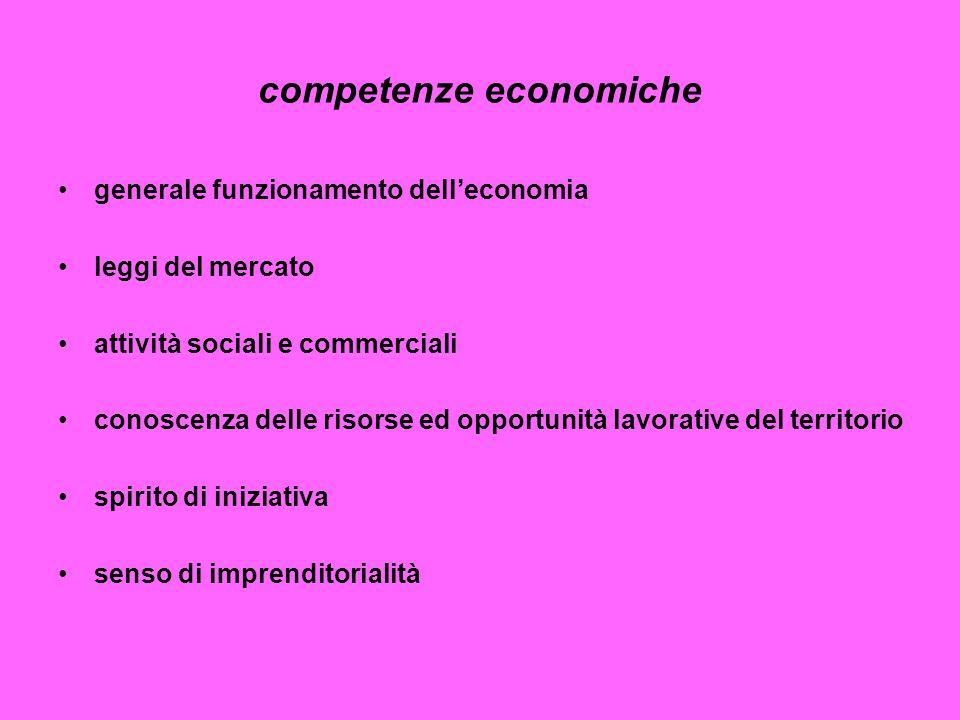 competenze economiche