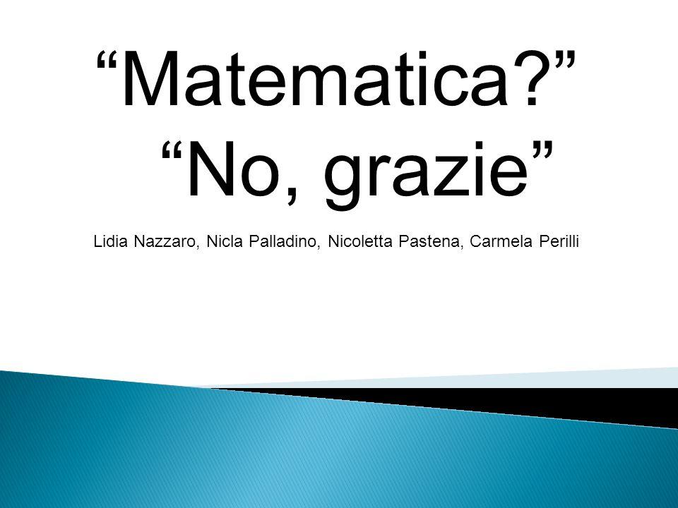 Matematica No, grazie