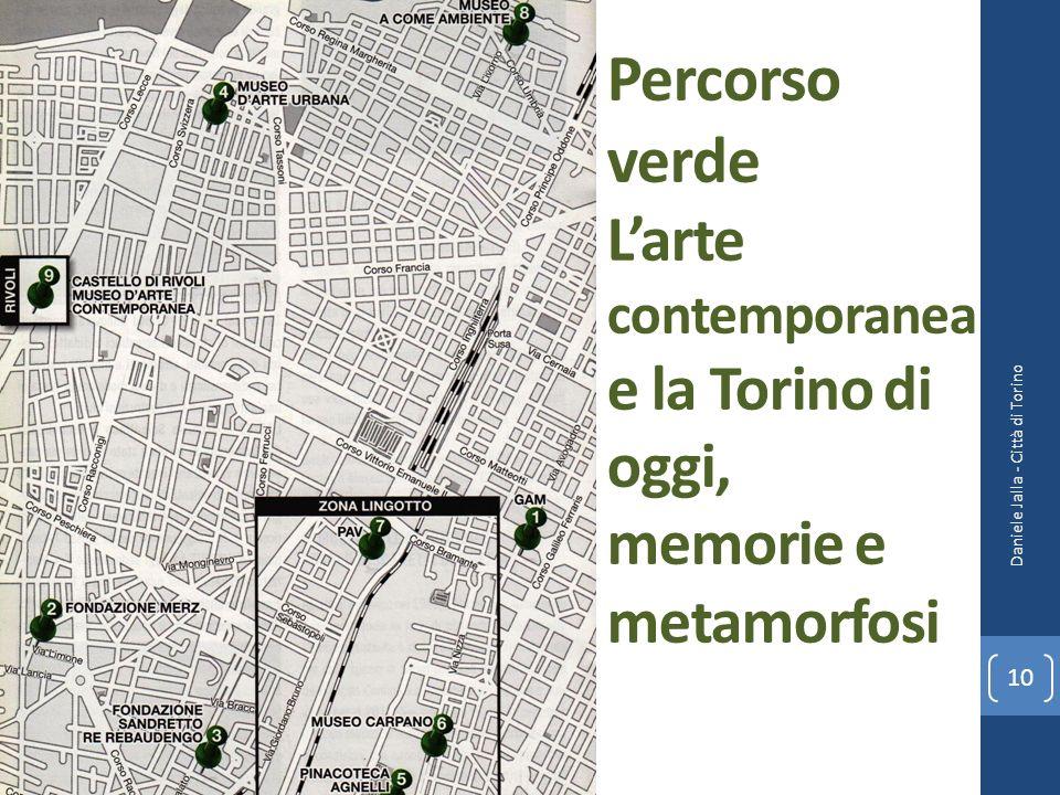 Percorso verde L'arte contemporanea e la Torino di oggi, memorie e metamorfosi