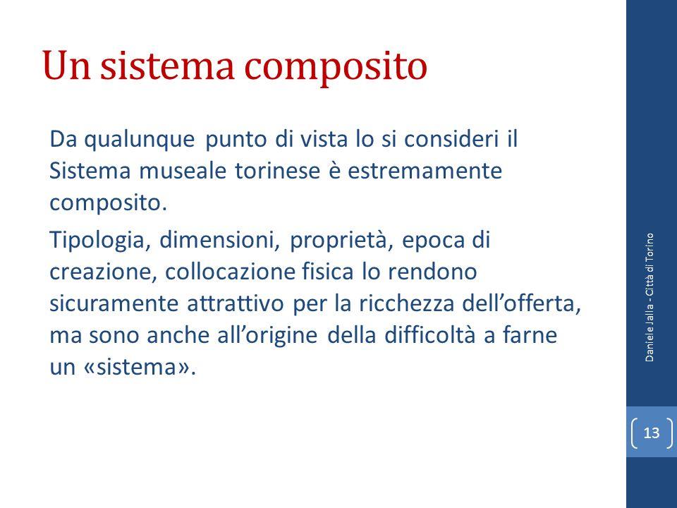 Un sistema composito Da qualunque punto di vista lo si consideri il Sistema museale torinese è estremamente composito.