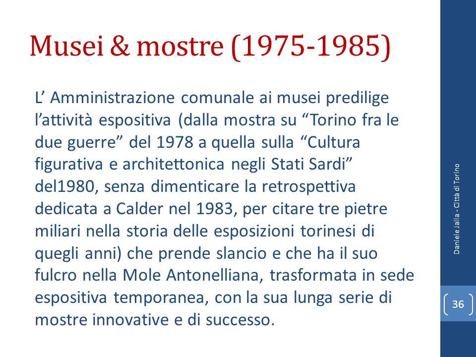Musei & mostre (1975-1985)