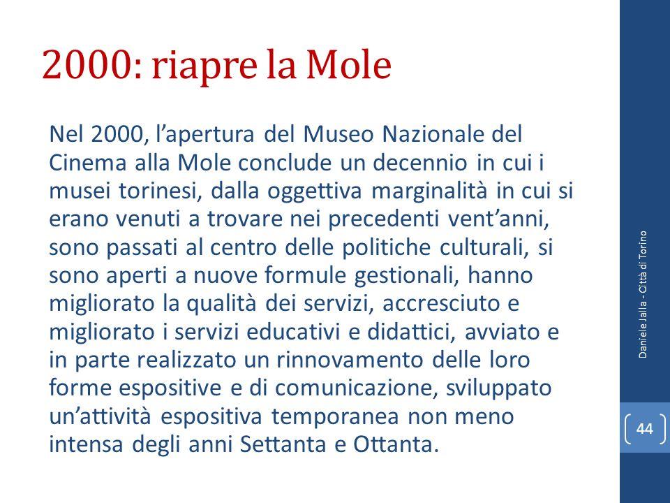 2000: riapre la Mole