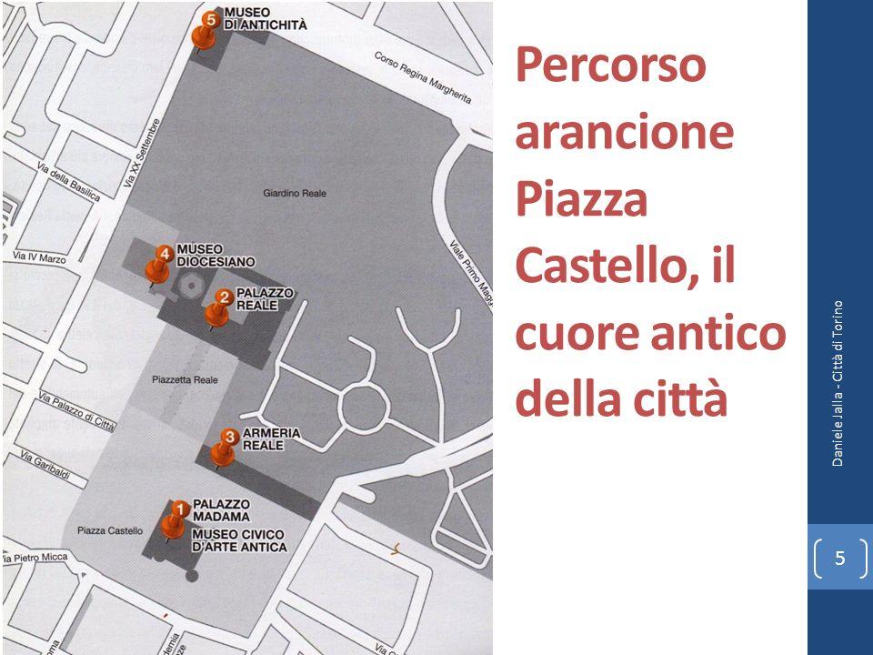 Percorso arancione Piazza Castello, il cuore antico della città