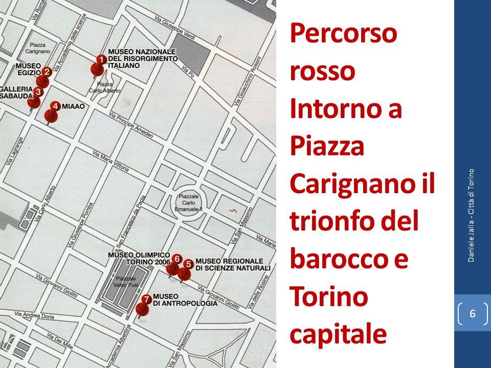 Percorso rosso Intorno a Piazza Carignano il trionfo del barocco e Torino capitale