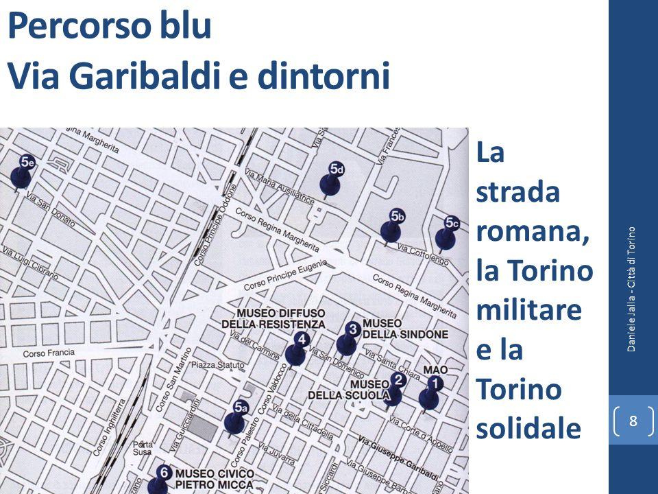 Percorso blu Via Garibaldi e dintorni