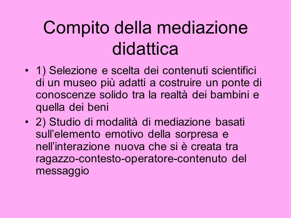 Compito della mediazione didattica