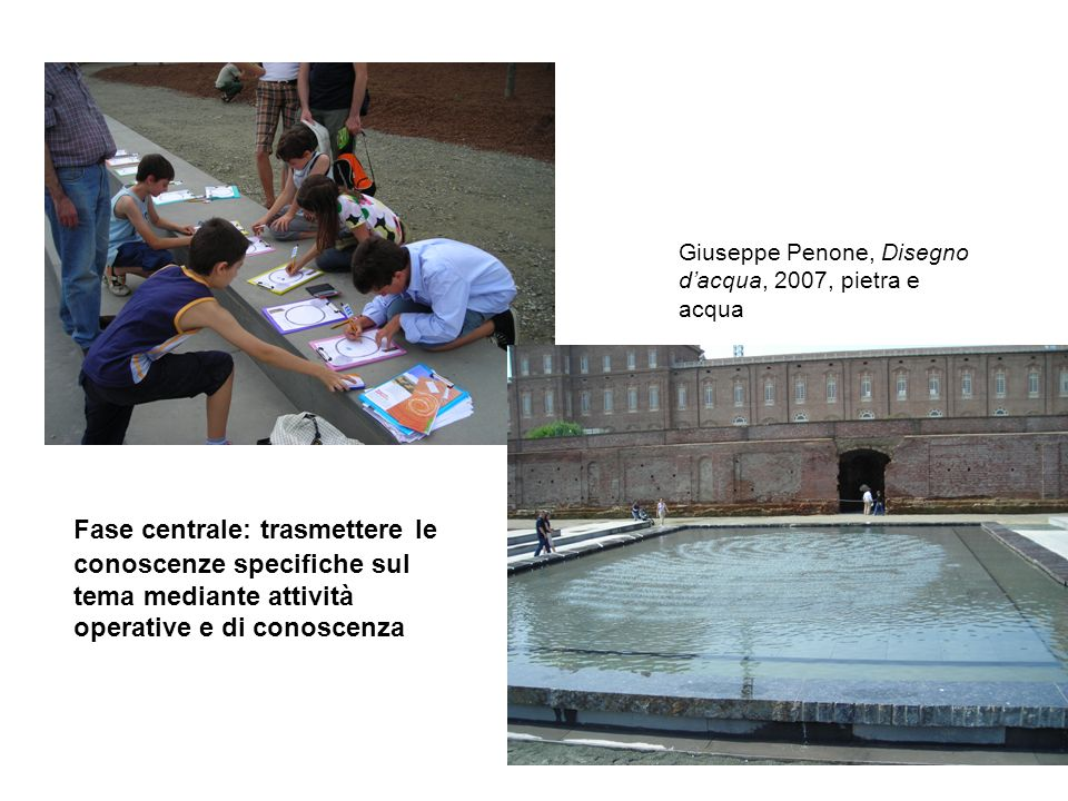 Giuseppe Penone, Disegno d'acqua, 2007, pietra e acqua
