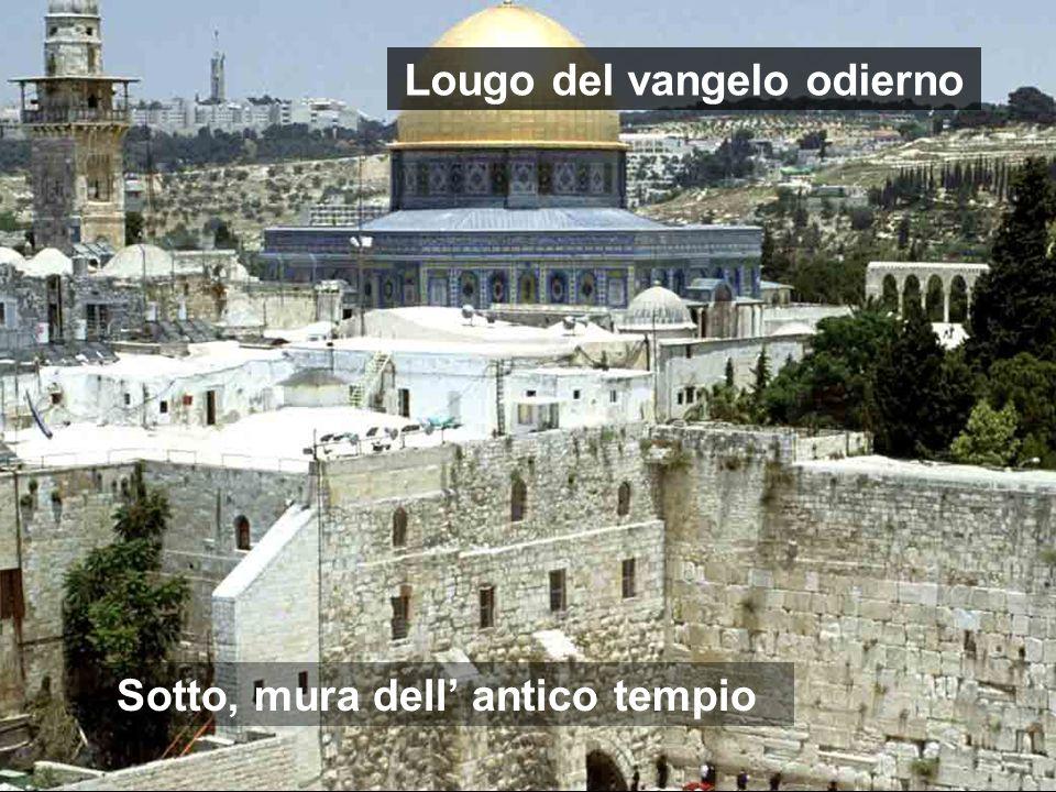 Lougo del vangelo odierno Sotto, mura dell' antico tempio