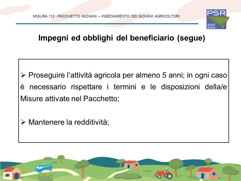 MISURA 112 - PACCHETTO GIOVANI – INSEDIAMENTO DEI GIOVANI AGRICOLTORI