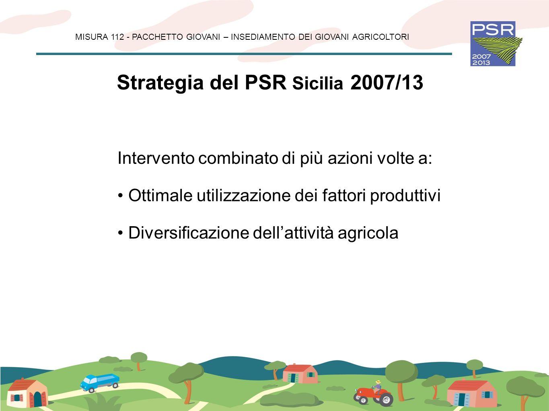 Strategia del PSR Sicilia 2007/13