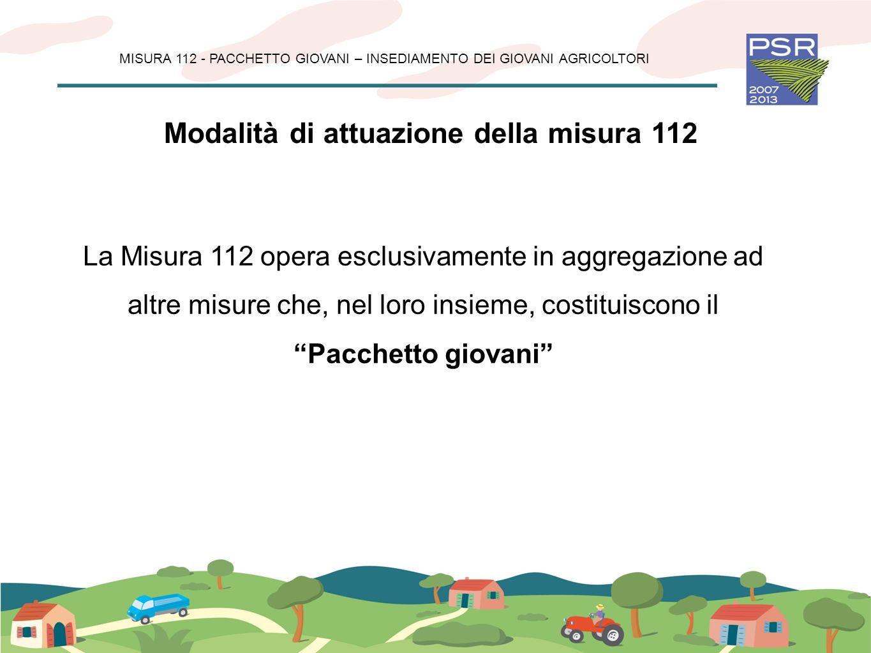 Modalità di attuazione della misura 112