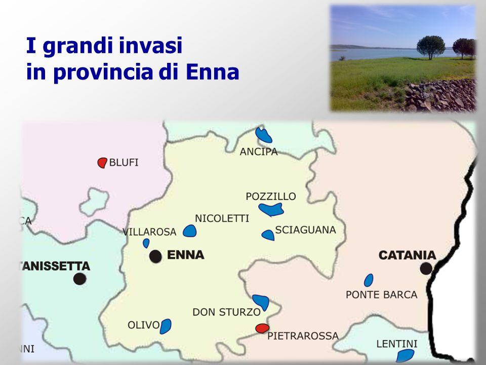 I grandi invasi in provincia di Enna