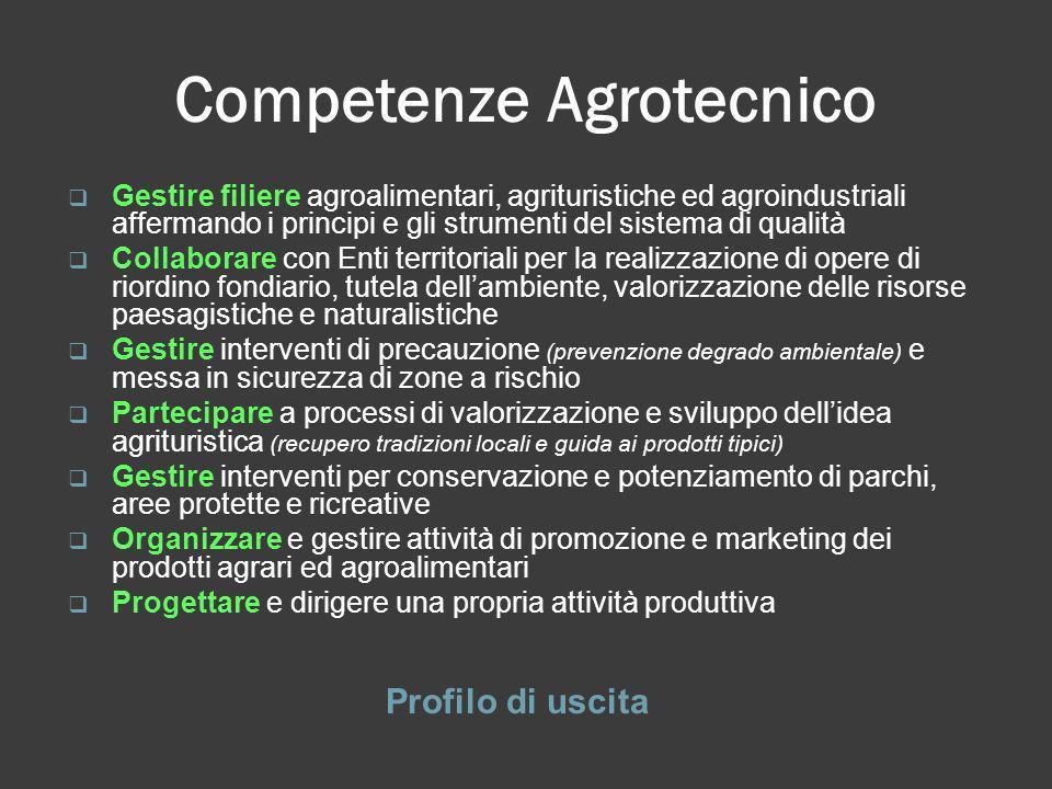 Competenze Agrotecnico