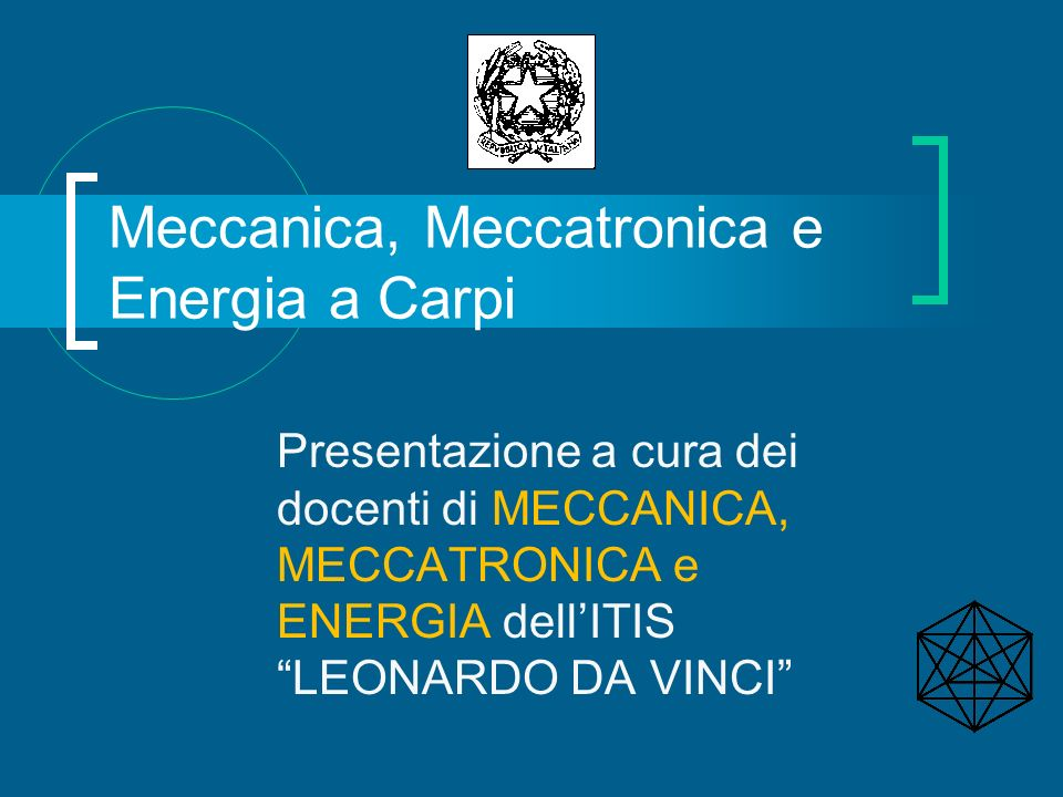 Meccanica, Meccatronica e Energia a Carpi