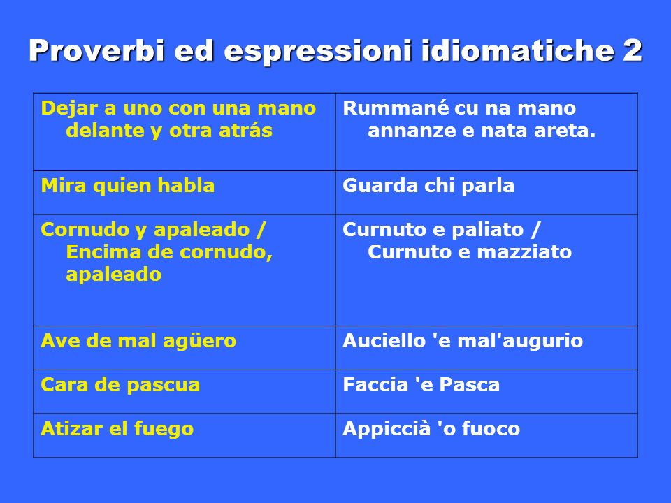 Proverbi ed espressioni idiomatiche 2