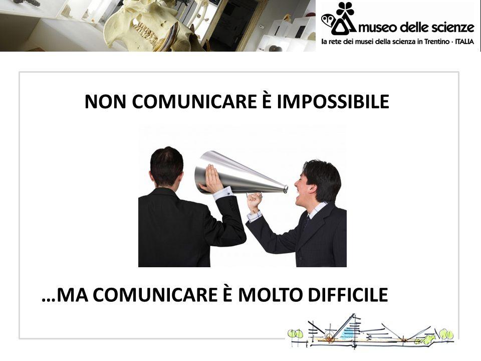 NON COMUNICARE È IMPOSSIBILE
